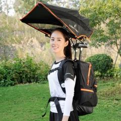 电车伞遮阳雨篷两用伞宝妈外出旅游智能背包伞太阳晒伞徒步垂钓